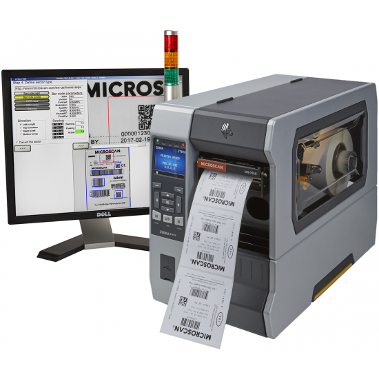 Omron-Microscan LVS-7510 Thermal Printer Label Inspection System